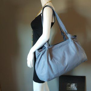 """Blue Leather Tote """"NWT"""""""